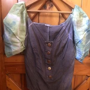 Hand dyed free people body suit